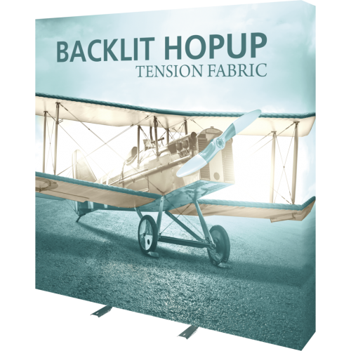 Hopup 7.5ft Backlit Straight Tension Fabric Display Kit