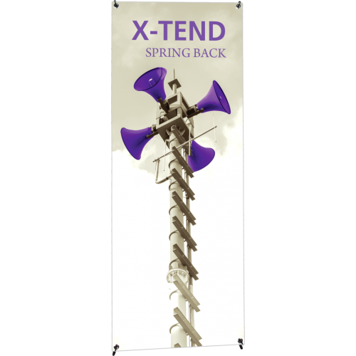 X-TEND 1 Spring Back Banner Stand